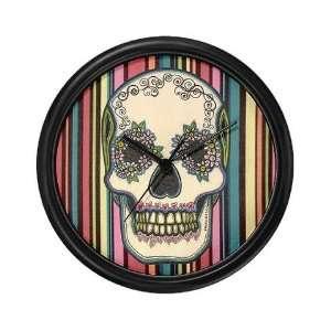 Dia de los Muertos Sugar Skull 1 Holiday Wall Clock by