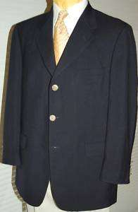 D23 42L Navy Wool BROOKS Mens Blazer Sport Coat Jacket