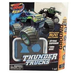 Air Hogs R/C Micro R/C Thunder Trucks [Green Flames] Toys & Games