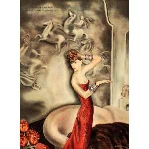 1934 Mariette Lydis George Lapape ART DECO Women Print