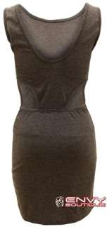 LADIES WOMEN SIDE CUT OUT LOOK BODYCON EVENING PARTY DRESS TOP SIZE