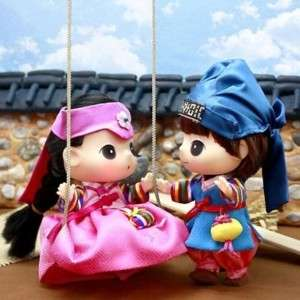 Lovely Cute Doll Figure DDUNG & BONG GU Hanbok