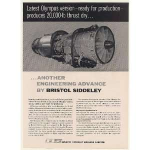 1960 Bristol Siddeley Olympus 21 Military Aircraft Engine
