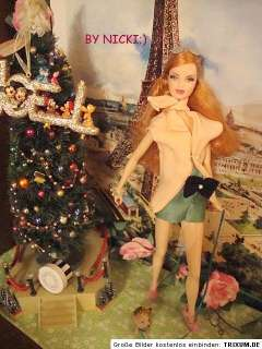 BARBIE OOAK BY NICKI;) MY DAY ANTIQUE SILK FOR BASIC DOLLS MODEL MUSE