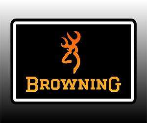 Browning Logo Bumper Sticker Decal