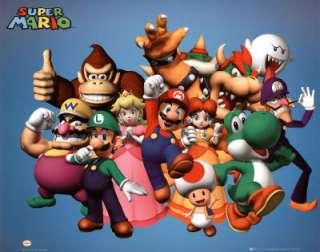 Nintendo Super Mario POSTER Brothers Luigi Bowzer Wario