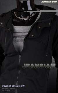 SWM Mens Designer Plaid Hoodies Jacket Coat Tops Shirts Black/Gray S