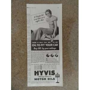 motor oil, Vintage 30s print ad (woman/tight shoe)Original vintage