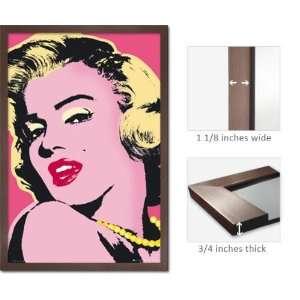 Slate Framed Marilyn Monroe Poster Glam Pink Red Lips