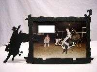 Brahma Bull Rider Rodeo Picture Frame 3x5 H