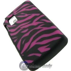 Black and Hot Pink Zebra Laser Cut Silicone Design Skin Case For LG Vu