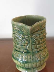 ANTIQUE ROSEVILLE (R.R.P.Co) POTTERY GREEN PATTERN