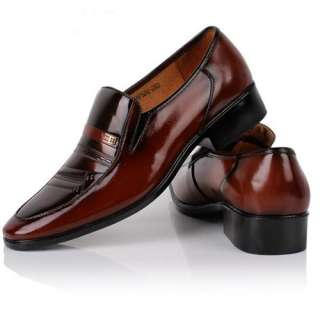 New Brown Sexy Fashion Cow Leather mens Dress/Formal shoes US Sz 5.5