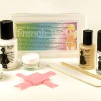 French Tip Dip ♥ French Manicure, Marbling & Nail Art Kit. Use with