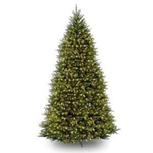 12 Dunhill Fir Hinged Christmas Tree with 1500 Clear Lights