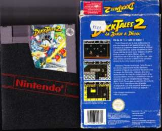 Nintendo NES Boxed Game Duck Tales 2 PAL B FRENCH