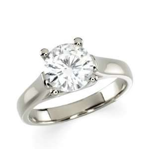 Gorgeous Womens 14k White gold 8.00MM(2CT) Moissanite Solitaire