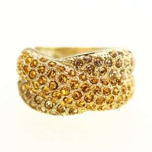 Champagne Crystal Band Ring SusanB. Jewelry