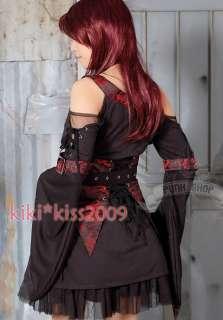 Gothic Lolita Dress Kimono Cosplay Costum Kleider Rot
