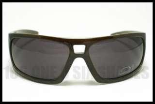 DG Mens Fashion Designer Sunglasses Dark BROWN w/ Green Inside
