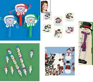 Snowman Christmas Party favors birthday Stocking stuffers Decorations