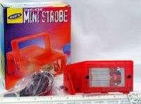 DISCO DJ MINI RED STROBE LIGHT VAR SPEED PARTY LIGHTS