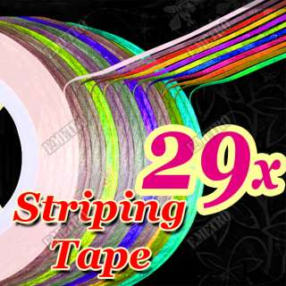 29 Self Adhesive Nail Art Tips Decoration Striping Tape