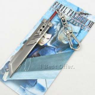 New Final Fantasy FF VII 7 Cloud Strife Buster Sword Weapon Keychain