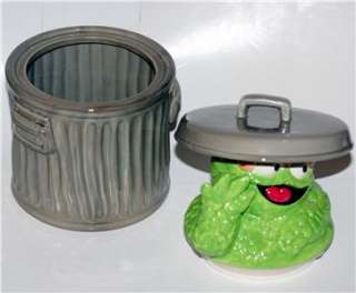 SESAME STREET Oscar Grouch Ceramic CANDY & COOKIE JAR