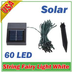 Solar Power 60 LED String Fairy Lights Christmas Party