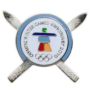2010 Winter Olympics Crossed Skis Collectible Pin Sports