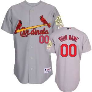 St. Louis Cardinals Jersey Personalized Road Grey