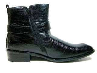 Mens D Aldo Black Casual Calf High Boots Easy On/Off Side Zip Styled