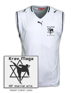 Puma official singlet vest shirt training Idf Martial Arts star david