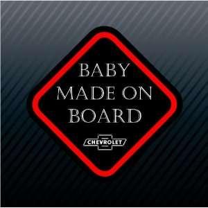 Board Chevrolet Chevy Sign Racing Car Trucks Sticker
