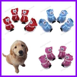 Pet Dog Sport Mesh Shoes Boots Boot Velcro Anti Slip