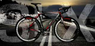Rossetti SLX 52cm   Sram Red Black   Carbon Wheels