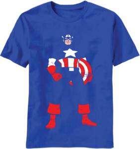 Marvel T Shirt Captain America Invisible Captain