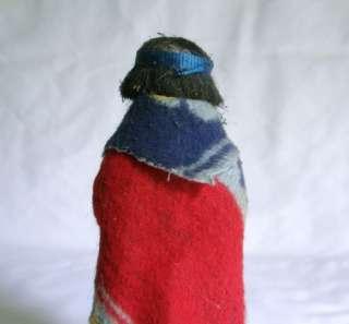 Skookum Native American Indian Boy Girl Squaw Doll Figure Antique