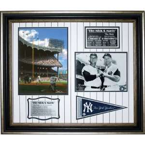 New York Yankees   Mick and Maris Tribute   Framed