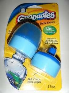 NIP 2 Gerber Spill Proof Water Bottle Spouts Baby 12+