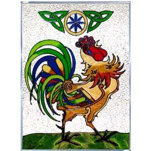 CELTIC ROOSTER Irish Design WINDOW Gel Back 3D 10 x 14