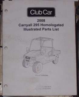 Club Car Carryall  Parts Manual