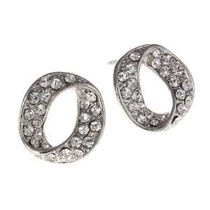 Gorgeous Three Dimensional Full Circle Twist Post Earrings Jewelry