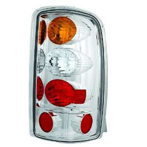 Crystal Amber/Clear/Red Tail Lamp for Barn Doors and Lift Gate   Pair
