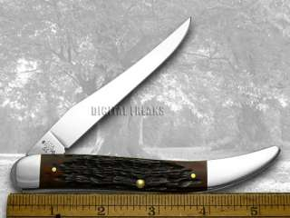 CASE XX Walnut Jigged Bone Large Toothpick Pocket Knife Knives