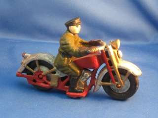 Cast Iron Hubley Harley Motorcycle Patrol Repro