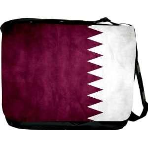 Rikki KnightTM Qatar Flag Messenger Bag   Book Bag