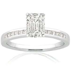 Emerald Cut Diamond Engagement Ring SI1 F IGI Fascinating Diamonds