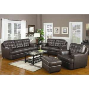 Hugo 4 Pc Tufted Leather Sofa Set by Coaster Kitchen & Dining